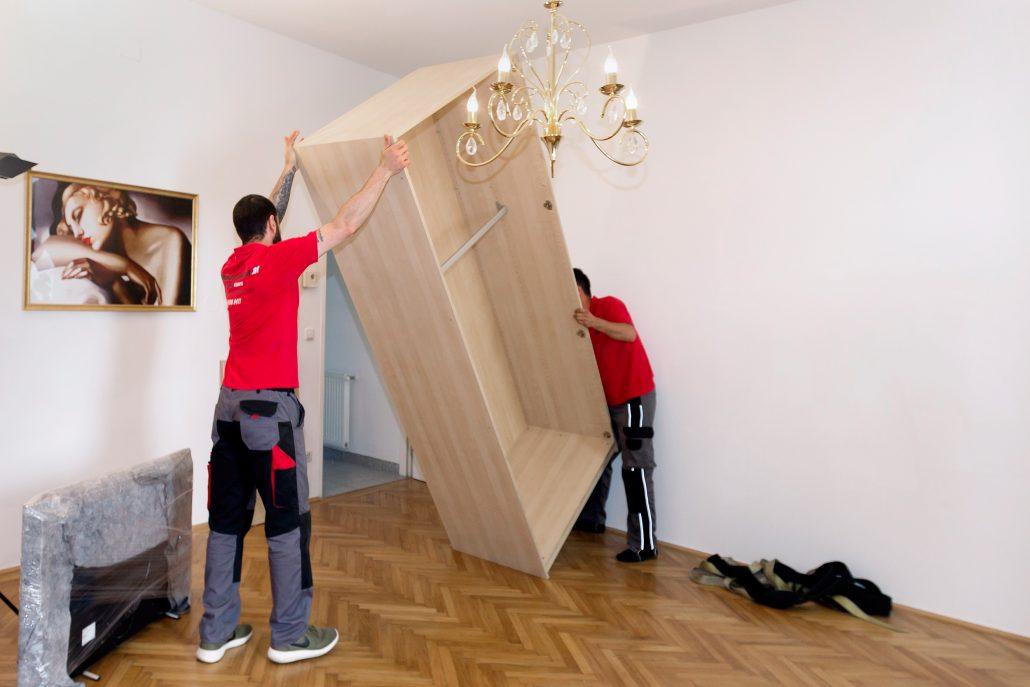 Möbelmontage bei ein Umzug
